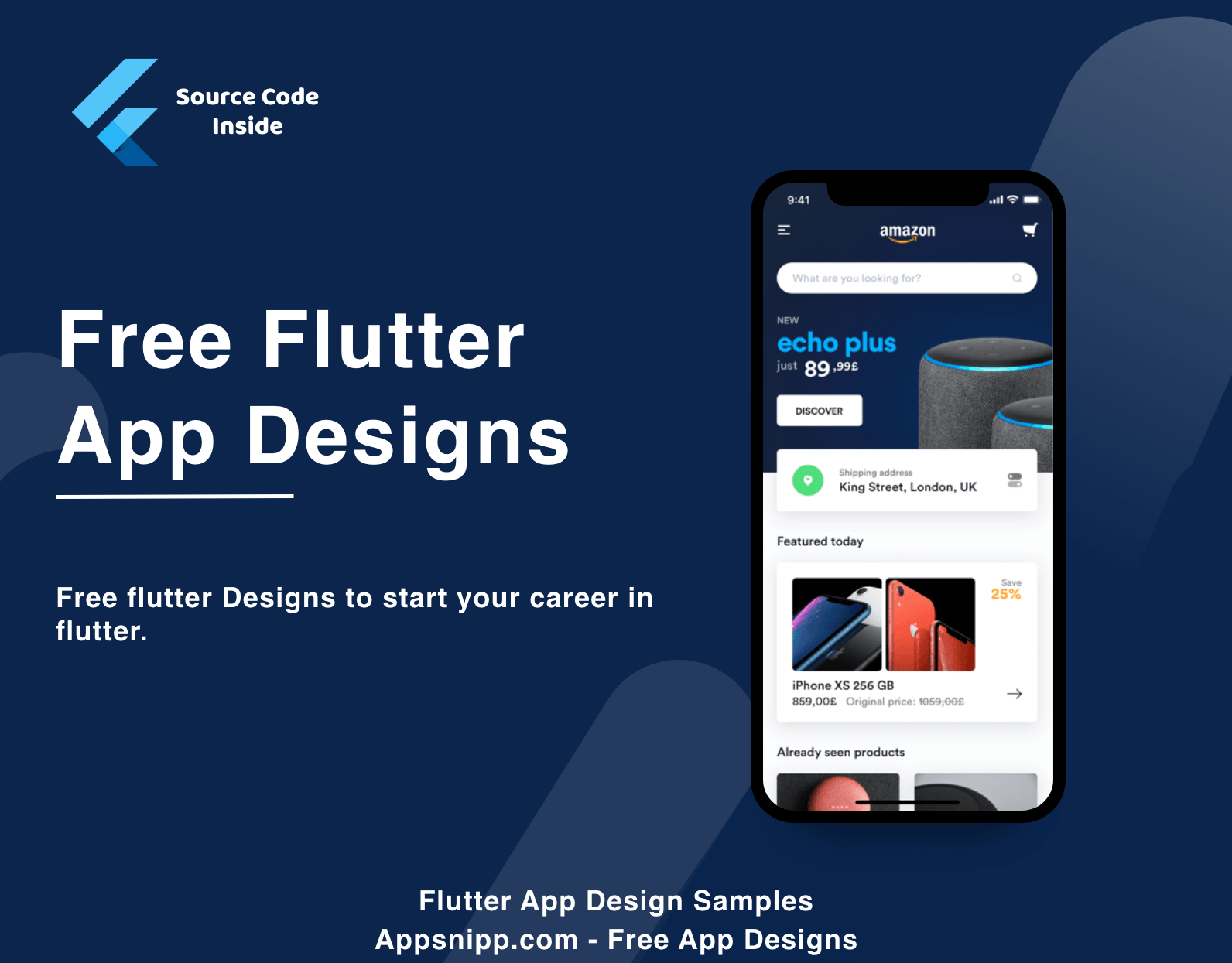 Free Flutter App Samples with source code - App Snipp
