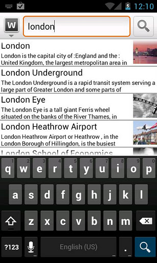 wapedia for Android mobiles