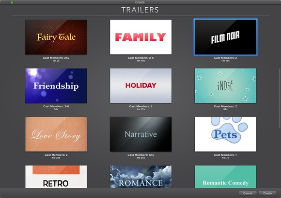 imovie trailer template