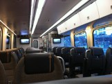 Inside the empty Union Pearson Express