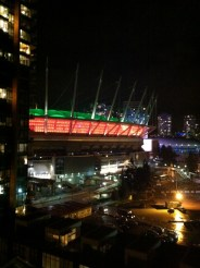 BC Place light for Halloween, October 2015