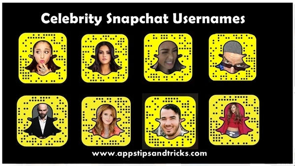 Celebrity Snapchat Usernames In  To Follow