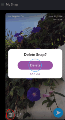 How To Delete a Snap from Memories