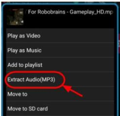 extract audio in tubemate