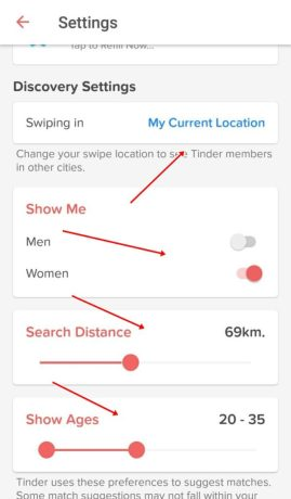 tinder location search