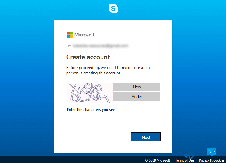 How to create a Skype account on a personal computer or mobile device