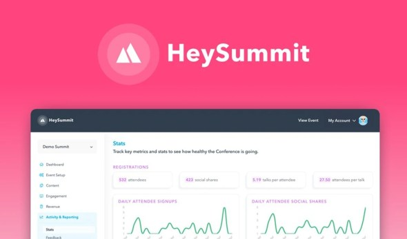 Buying HeySummit | Exclusive Offer from AppSumo (2 codes, stacked) lifetime deal