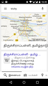 More search results in Tamil pushed to the top.