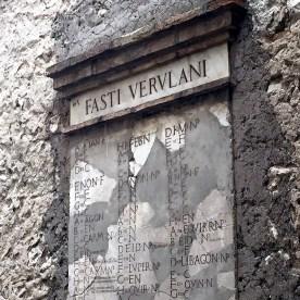 Fasti Verulani nel cortiletto di Casa Reali