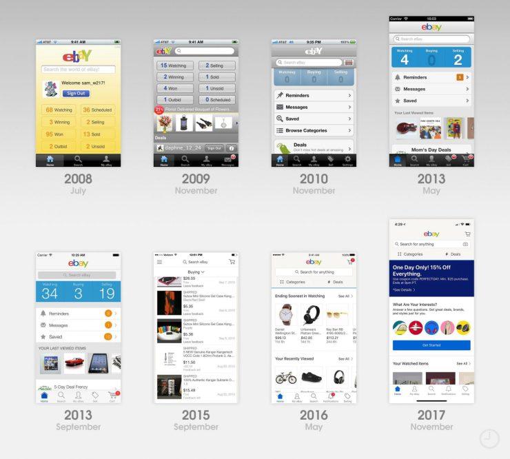 10 лет App Store: эволюция дизайна первых приложений