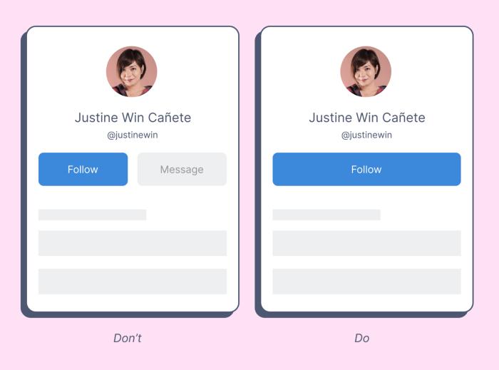 Отключенные кнопки не должны путать пользователей