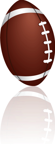 Football clipart with reflection.