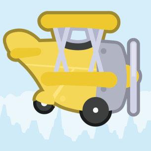 Tappie Plane iOS App icon.
