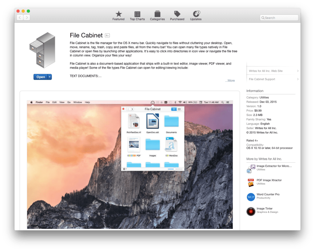 File Cabinet Mac App Store screenshot