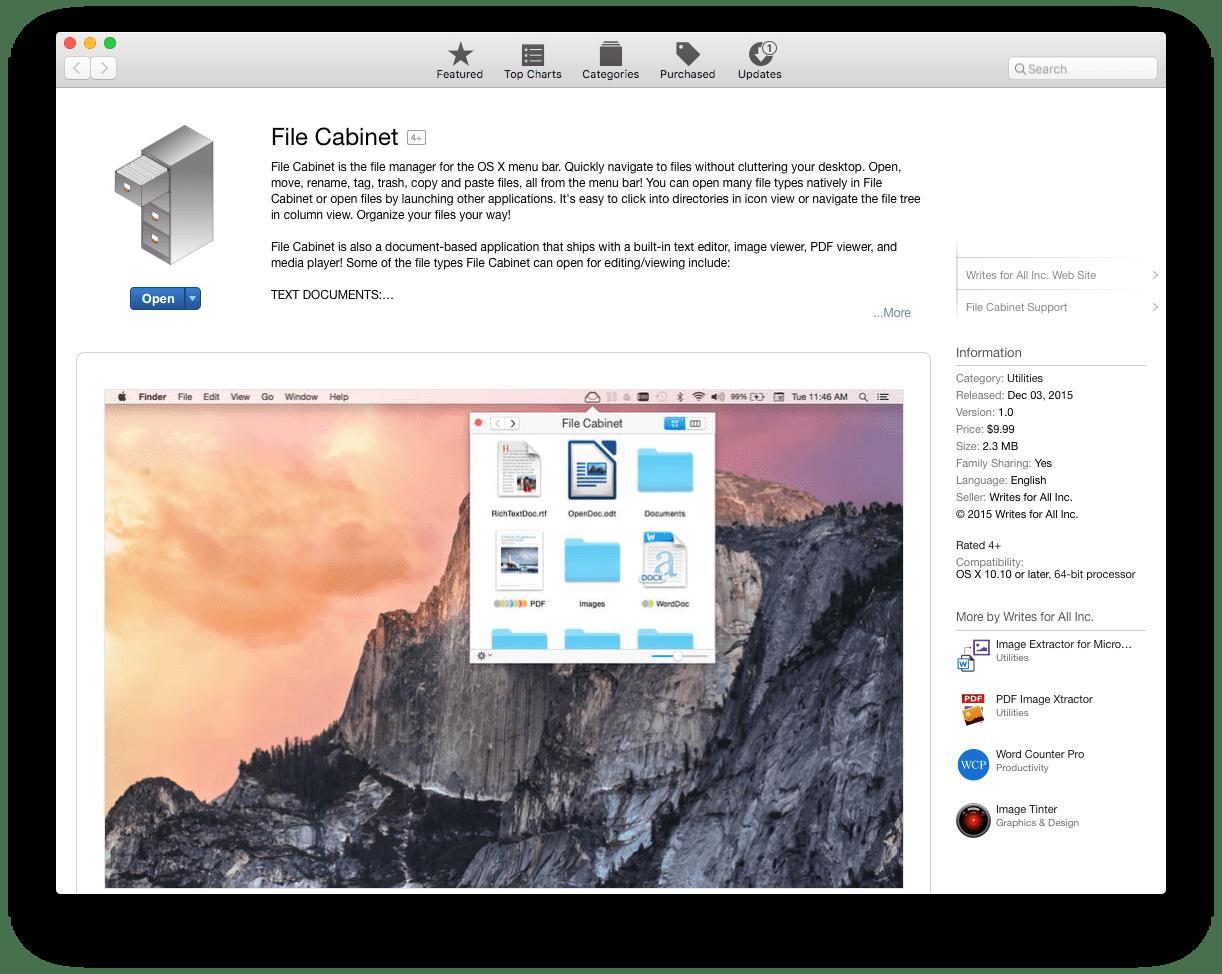 File Cabinet on the Mac App Store vs. File Cabinet Pro