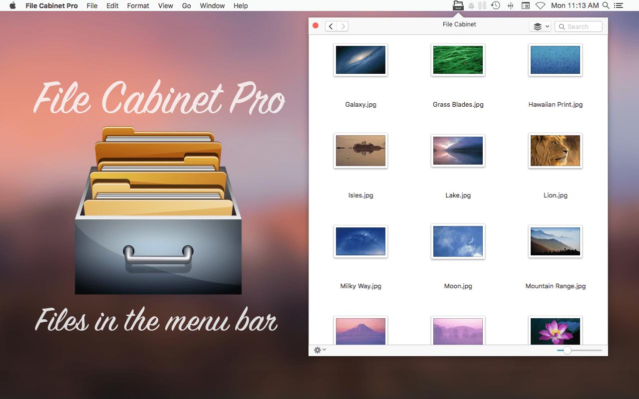 File Cabinet Pro Mac app teaser image.