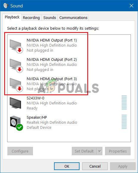 Mengatasi No Audio Output Device Is Installed Windows 10 : mengatasi, audio, output, device, installed, windows, NVIDIA, Output, Plugged, Error, Windows?, Appuals.com