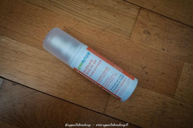 greenatural deodorante spray no gas mirra e sandalo