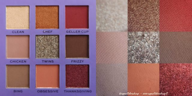 Friends x Revolution beauty collection: Monica Eyeshadow palette