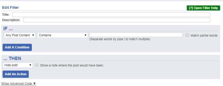 social fixer tab filters