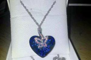 Collana con cuore e farfalla pulsante JNina