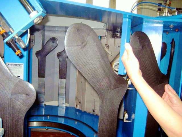 Lavorazione delle calze Sabas