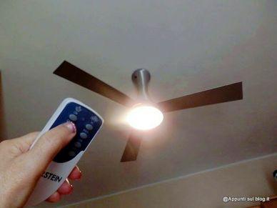 Il ventilatore da soffitto Klarstein Steeletto con lampada integrata