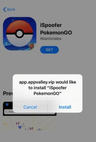 Install PokeGo++ - iSpoofer Pokemon Go - AppValley