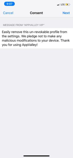 Install - AppValley - iOS