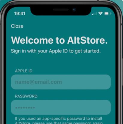 AltStore App Download on iOS