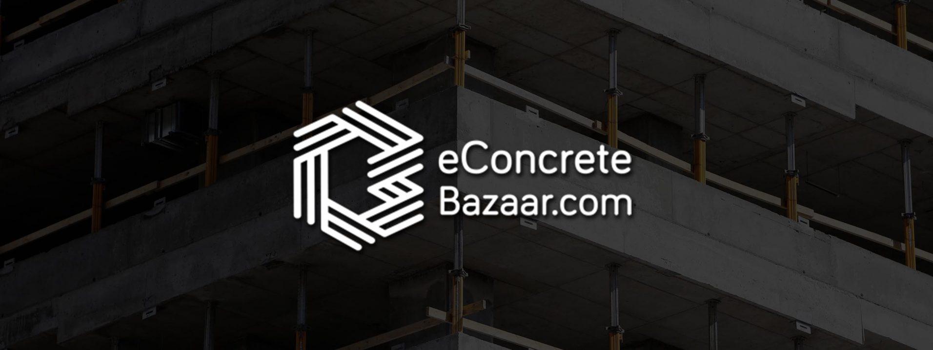 econcrete bazaar startup website
