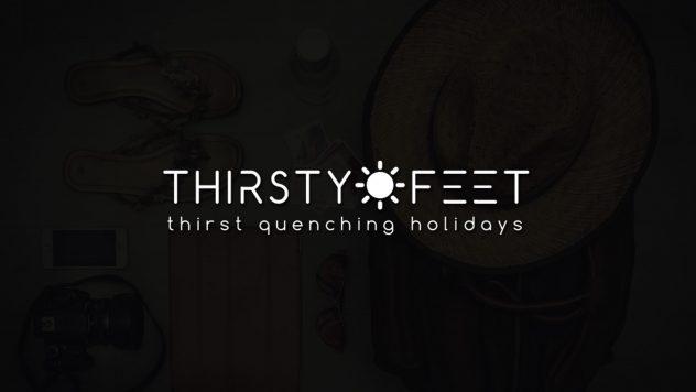 thirsty feet web portal design