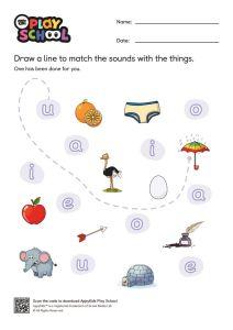 thumbnail of AppyKidsPlay School Worksheet Set 1 Vowels