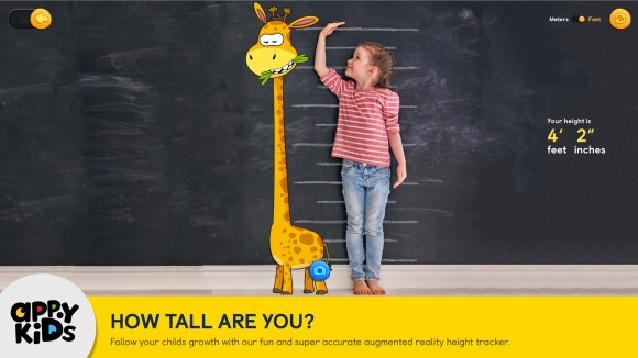 AppyKids ToyBox How Tall are You iPad Screenshot