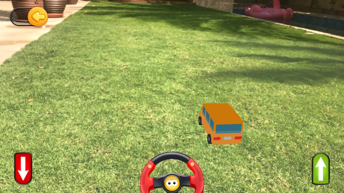 Preschool iPad app of Games for Kids AppyKids ToyBox AR Car Screenshot