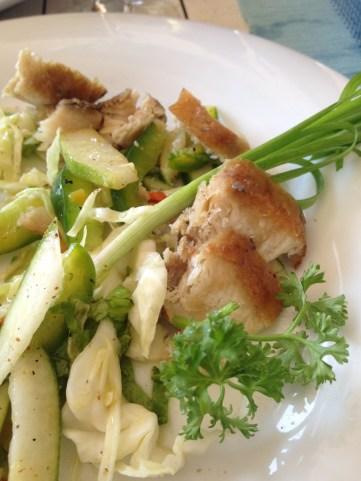 Smoked Seerfish Salad - La Viole Blanche