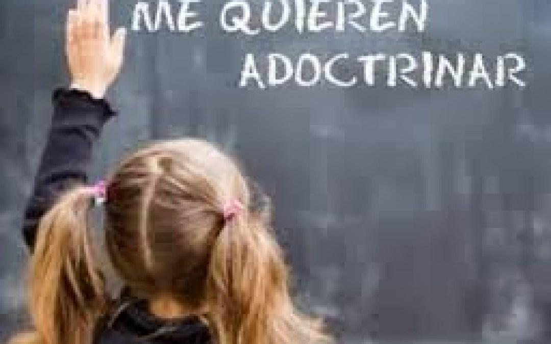 Educar, no adoctrinar: hijos y no víctimas.