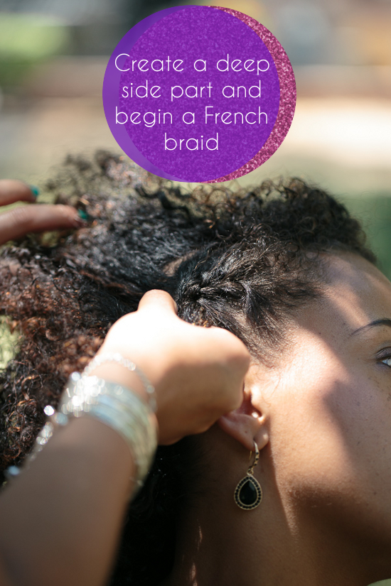 How To Edgy Updo For Naturally Curly Hair