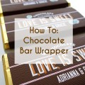 Downloadable customized chocolate bar wrappers from a printable press