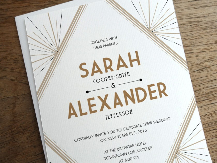Get Modern Wedding Invitations From E M Papers