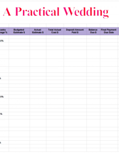 Apw wedding budget spreadsheet also how to create  perfect for you rh apracticalwedding