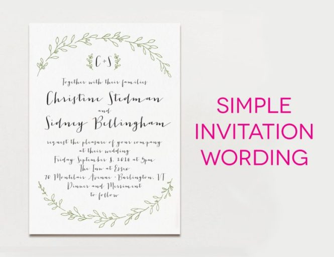 Wedding Invitation Wording Half Past Hour