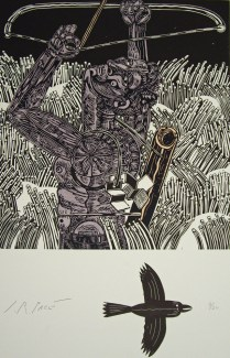 Ambition's Last Shot, 2001; Relief; Image: 30 x 22 1/2 inches