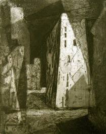 Morro Castle, Cuba #2, 1960; Etching; Image: 13 x 10 inches
