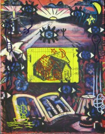 Uno Notes, 1993; Monoprint, lithograph, relief; Image: 30 x 22 inches