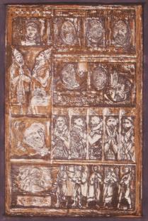 Rudy Pozzatti, 1969, Veil of Allegory, 19 3/4 x 13 3/4 inches