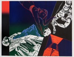Frances Myers (born 1938); Rescue, 1985; woodcut; image: 27 1/2 x 35 inches