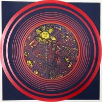 Helen Boodman (born 1927); Interlock, 1976; Collagraph, intaglio; 14 x 14 inches