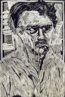 Eric Avery (born 1948); Me, 1983; linocut; image: 38 x 24 inches