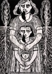 Kathryn Polk (born 1952); Like Mother, Like Daughter, 2004; relief; image: 16 1/2 x 11 1/2 inches